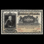 Canada, Dominion of Canada, 5,000 dollars <br /> January 2, 1901