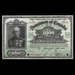 Canada, Dominion of Canada, 1,000 dollars <br /> January 2, 1924