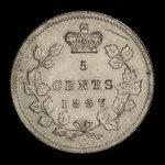 Canada, Victoria, 5 cents <br /> 1897