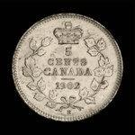 Canada, Edward VII, 5 cents <br /> 1902