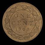 Canada, Edward VII, 1 cent <br /> 1903