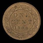 Canada, Edward VII, 1 cent <br /> 1904