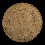 Canada, Edward VII, 1 cent <br /> 1906