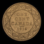 Canada, George V, 1 cent <br /> 1916