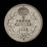 Canada, Edward VII, 5 cents <br /> 1903