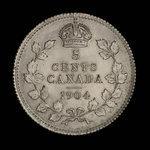 Canada, Edward VII, 5 cents <br /> 1904
