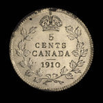 Canada, Edward VII, 5 cents <br /> 1910