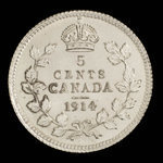 Canada, George V, 5 cents <br /> 1914