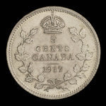 Canada, George V, 5 cents <br /> 1917