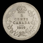 Canada, George V, 5 cents <br /> 1919