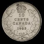 Canada, Edward VII, 10 cents <br /> 1903