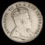 Canada, Edward VII, 10 cents <br /> 1906