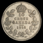 Canada, George V, 10 cents <br /> 1916
