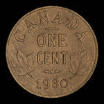 Canada, George V, 1 cent <br /> 1930