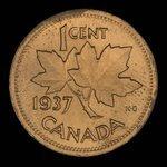 Canada, George VI, 1 cent <br /> 1937