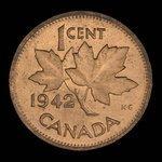 Canada, George VI, 1 cent <br /> 1942