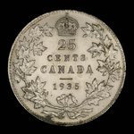 Canada, George V, 25 cents <br /> 1935