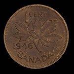 Canada, George VI, 1 cent <br /> 1946