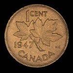 Canada, George VI, 1 cent <br /> 1947