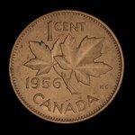 Canada, Elizabeth II, 1 cent <br /> 1956