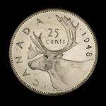 Canada, George VI, 25 cents <br /> 1948