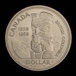 Canada, Elizabeth II, 1 dollar <br /> 1958