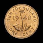 Canada, George VI, 1 cent <br /> 1940