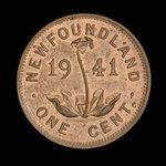 Canada, George VI, 1 cent <br /> 1941