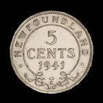 Canada, George VI, 5 cents <br /> 1941