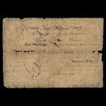 Canada, Hudson's Bay Company, 5 shillings <br /> 1845