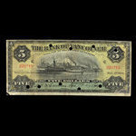 Canada, Bank of Vancouver, 5 dollars <br /> May 2, 1910