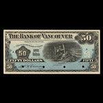 Canada, Bank of Vancouver, 50 dollars <br /> May 2, 1910