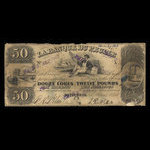 Canada, Banque du Peuple (People's Bank), 50 dollars <br /> March 1, 1845
