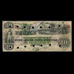 Canada, Banque du Peuple (People's Bank), 20 dollars <br /> May 2, 1870