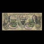 Canada, Banque du Peuple (People's Bank), 5 dollars <br /> May 2, 1882