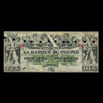 Canada, Banque du Peuple (People's Bank), 10 dollars <br /> May 2, 1882