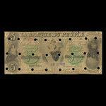 Canada, Banque du Peuple (People's Bank), 5 dollars <br /> November 6, 1885