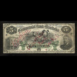 Canada, Commercial Bank of Manitoba, 5 dollars <br /> January 2, 1891