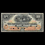 Canada, Farmers Bank of Canada, 10 dollars <br /> January 2, 1907