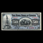 Canada, Home Bank of Canada, 50 dollars <br /> March 1, 1904