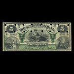 Canada, St. Stephen's Bank, 5 dollars <br /> February 1, 1892