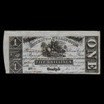 Canada, District of Wellington, 1 dollar <br /> December 1, 1868