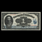 Canada, Government of Newfoundland, 1 dollar <br /> January 2, 1920