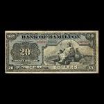 Canada, Bank of Hamilton, 20 dollars <br /> June 1, 1914
