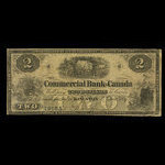 Canada, Commercial Bank of Canada, 2 dollars <br /> January 2, 1857