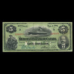 Canada, Merchants Bank of Canada (The), 5 dollars <br /> February 1, 1906