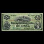 Canada, Merchants Bank of Canada (The), 5 dollars <br /> February 1, 1906