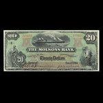 Canada, Molsons Bank, 20 dollars <br /> January 2, 1904