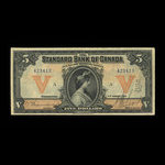 Canada, Standard Bank of Canada, 5 dollars <br /> January 2, 1919