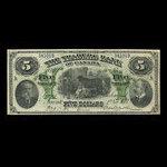 Canada, Traders Bank of Canada, 5 dollars <br /> November 1, 1907